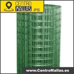 Rollo malla cuadrada electrosoldada galvanizada plastificada verde 13.0 mm. alambre 0.90 (1.20 plastificado) mm. de 1 m. X 25 m. de largo