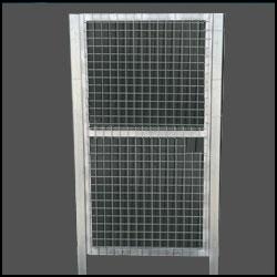 Puerta peatonal simple torsión 1.2X2m alto galvanizada