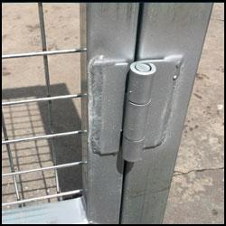 Puerta peatonal simple torsión 1X1,5m alto galvanizada